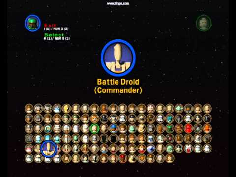 lego star wars 2 all characters (and characters ep1-3)