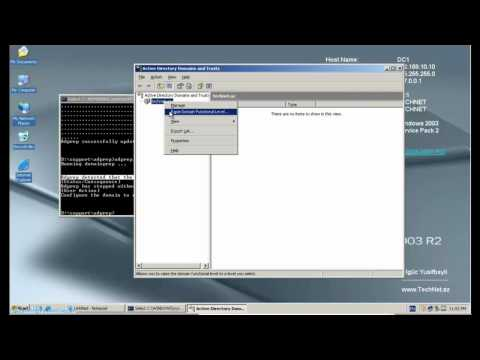 Server 2003 - 2008 R2-yə keçid (Active Directory, İn-Place Upgrade)