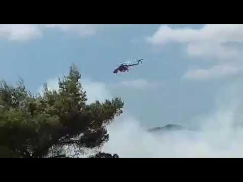 Video - Σε εξέλιξη η πυρκαγιά στο Λαύριο - Εκκενώθηκε καταυλισμός