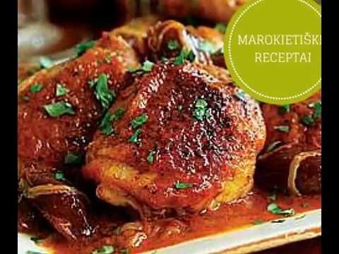 Marokietiški receptai - troškinta vištiena