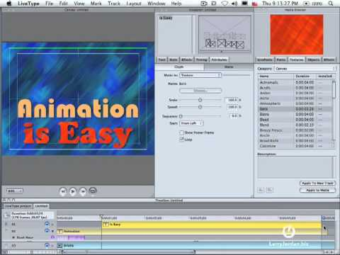 livetype - In this Final Cut tutorial, Larry Jordan - http://www.larryjordan.biz/ - shows you how to create animated text in LiveType. Edit faster, smarter and with mor...