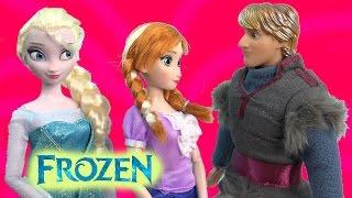 Disney Frozen Queen Elsa Princess Anna Kristoff Sister Talk Part 29 Barbie Dolls Series Video
