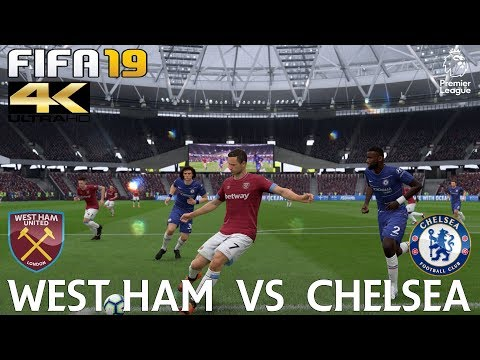 FIFA 19 (PC) West Ham United Vs Chelsea | PREMIER LEAGUE PREDICTION | 23/9/2018 |4K 60FPS