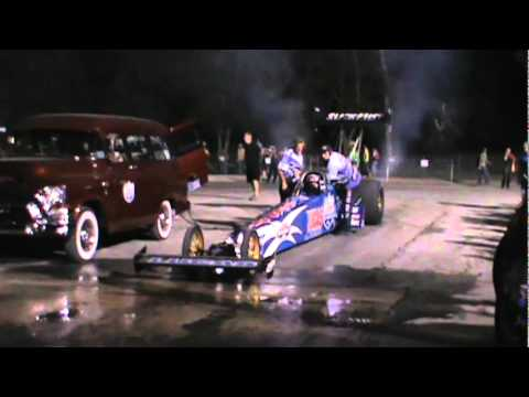 Lucas Oil Top Fuel Dragster Warming The Tires At The 2011 World Series Of Drag Racing!!
