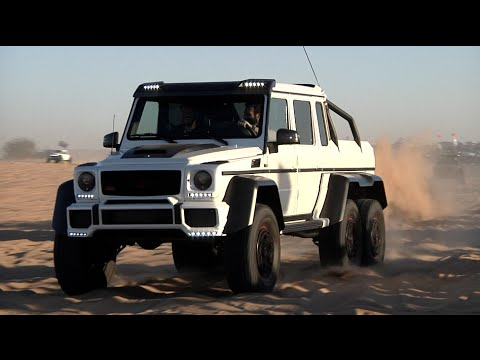Dan Bilzerian Debuts His New 6wd Benz in Glamis Sand Dunes, California