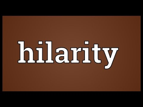 Hilarity Meaning