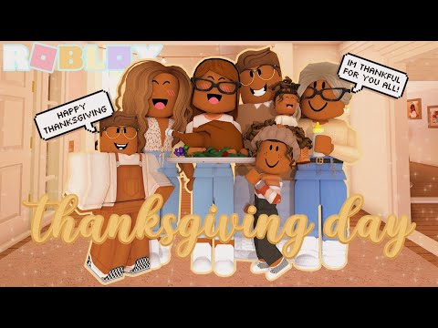 THANKSGIVING DAY! *BIG FAMILY* Roblox Bloxburg Roleplay