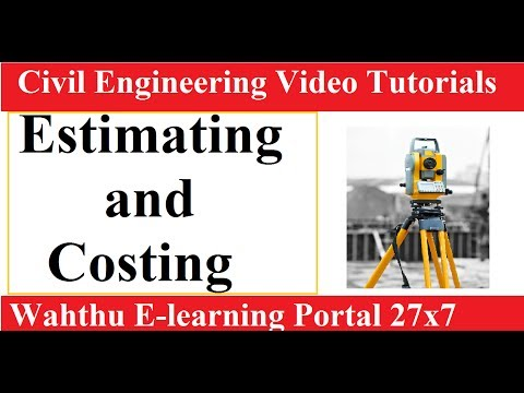 what is Estimating and costing in civil engineering || surveying lectures in Hindi