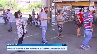 Ônibus de Sorocaba ganham tecnologia antiviral contra a Covid-19