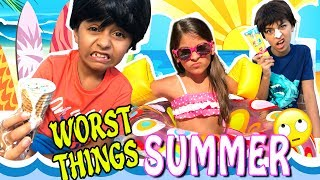 Summer Funny Parody - 10 Worst Things In Summer 2017 : Family Friendly Comedy Kids // GEM Sisters