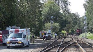 Coquitlam (BC) Canada  city photo : 4k Fatal Accident, Pedestrian Struck by CP-Train. Coquitlam, B.C. Canada
