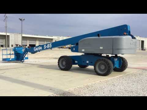 GENIE INDUSTRIES ELEVADOR - LANÇA S85D4W equipment video 2pdydL4Vm14