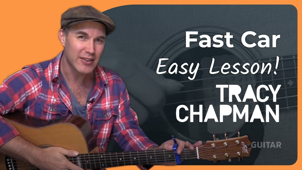 Fast Car – Tracy Chapman – Easy Beginner Acoustic Guitar Lesson (BS-802) How to play guitar