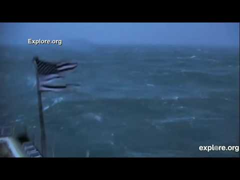 When The Frying Pan Tower Feed Faded To Black During Hurricane Florence - Time-lapse