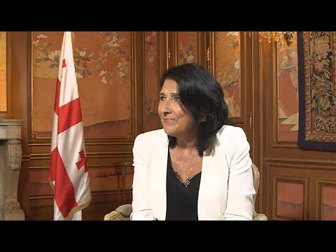 Η Πρόεδρος της Γεωργίας Σαλομέ Ζουραμπισβίλι στο Euronews
