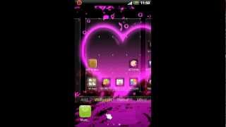 GO Launcher EX Hearts Theme YouTube video