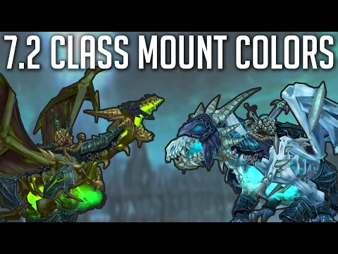 7.2 Class Mounts Colors 🐉 (видео)