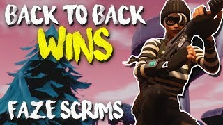BACK TO BACK WINS! FaZe Pro Scrims Gameplay (Fortnite Battle Royale)