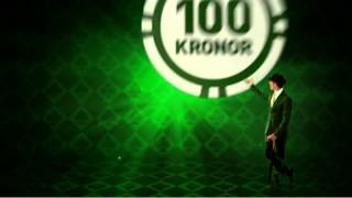 Mr Green- Spela Om Miljoner. Satsa En Hundralapp, Spela För 500 Kronor (20 Sek)