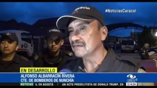 BOMBEROS ATENDIÓ SU PROPIA EMERGENCIA EN NUNCHÍA