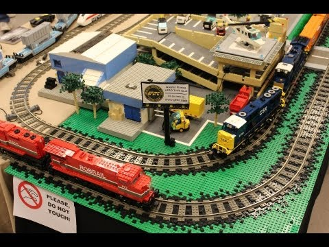 train - The Greater Florida LEGO Users Group's train interest group put on a magnificent display at the 23rd HB Plant RR Historical Society's Train show. In it I deb...