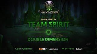 Team Spirit против Double Dimension, Третья карта, Открытая СНГ квалификация к TI8
