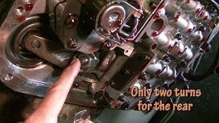 2. How to adjust bands and change automatic transmission fluid