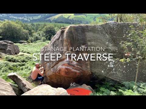 Stanage Steep Traverse 6C