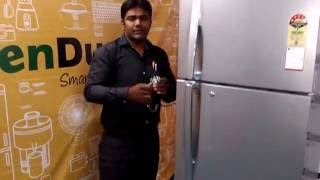 This video is the e-demo and user-manual of the Double Door Refrigerator from start to end, with all questions answered. So go ahead, keep your food - healthy, fresh & safe!!Check out this video for more detailed look into the working of your daily appliance - The Double Door Refrigerator. For any issues or queries, please call us at: 011-6648 9200 or email us anytime: support@greendust.com
