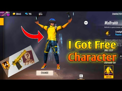 HOW TO GET WOLFRAHH CHARACTER & GOLDEN SKIN | WOLFRAHH | GARENA FREE FIRE