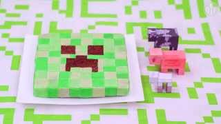 Pastel Creeper de Minecraft