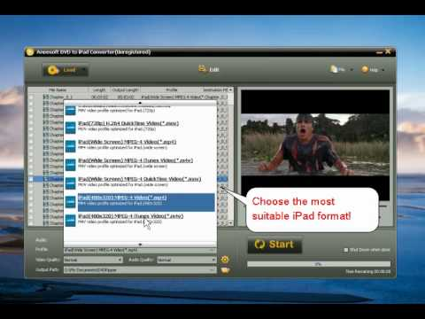 Aneesoft DVD to iPad converter 2.9-How to convert DVD for  iPad MP4 -free tutorial
