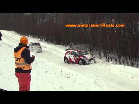 Big jump and crash Rally Sweden SS5 2015 Per Erik Brynildsen Ford Fiesta R5