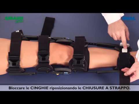 Posizionamento Innovator DLX+ tutore di ginocchio