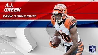 A.J. Green's 10 Catches, 111 Yards & 1 TD! | Bengals vs. Packers | Wk 3 Player Highlights by NFL