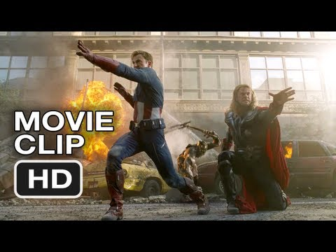 The Avengers Movie CLIP #2 - Thor and Captain America Do Battle (2012) Marvel Movie HD Video
