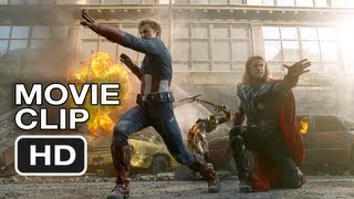 The Avengers - Thor And Captain America Do Battle (Movie Clip)