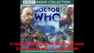 Doctor Who Episode Guide - The Hartnell Years
