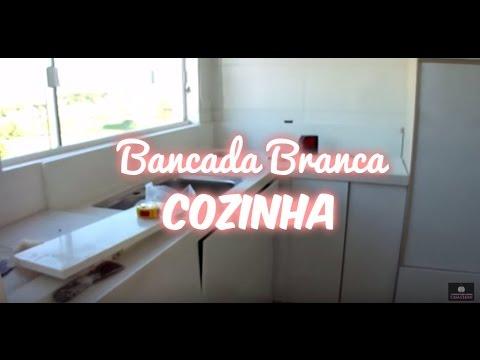 INSTALAÇÃO DAS BANCADAS QUARTZO BRANCO DA COZINHA - TV Casa Clean