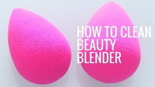 How To Clean Your Beauty Blender | Best Beauty Blender Hack! | Eman