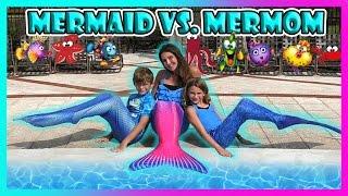 Video MERMAID VS. MERMOM CHALLENGE   We Are The Davises MP3, 3GP, MP4, WEBM, AVI, FLV Maret 2018
