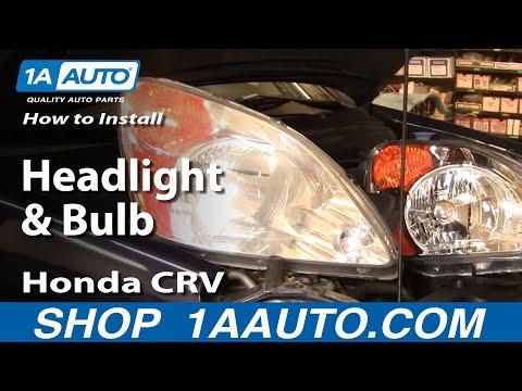 How To Install Replace Headlight and Bulb Honda CR-V 02-04 1AAuto.com