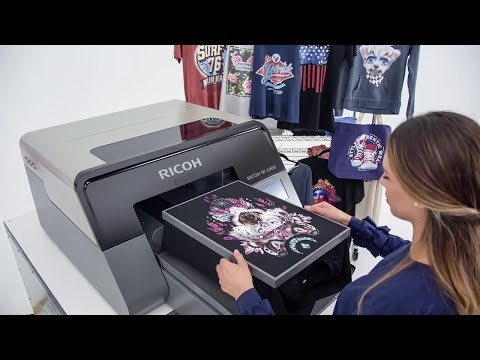 Impresión directa a prenda en 3 sencillos pasos con la impresora textil Ricoh Ri1000 | Ricoh