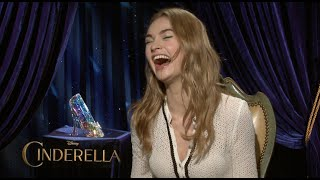 CINDERELLA Interviews - Lily James, Richard Madden, Blanchett, Branagh