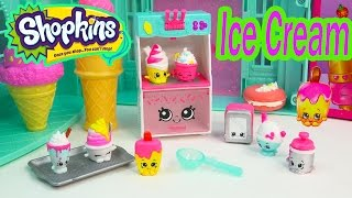 Shopkins Season 3 Playset Cool & Creamy Collection Food Fair Exclusive Ice Cream Toy Video Unboxing