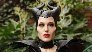 HOT TOYS MALEFICENT. FOCUS ON THE JOLIE HEAD SCULPT