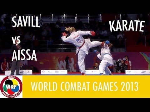Karate Women's Kumite +68kg. SAVILL vs AISSA. World Combat Games 2013