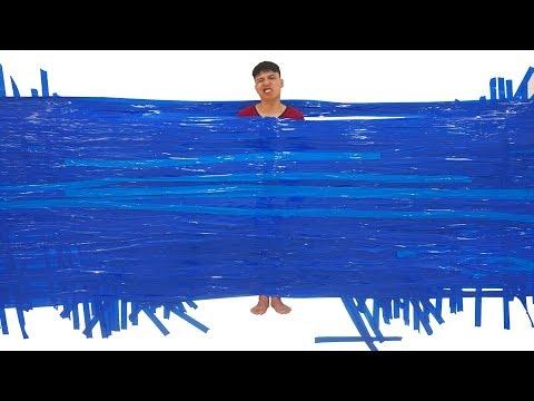 NTN - Thử Dính Người Trên Tường Với Băng Dính ( Aerial with tape ) - Thời lượng: 10 phút.