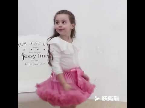 Новая модная пушистая шифоновая юбка пачка для маленьких девочек, принцес… видео