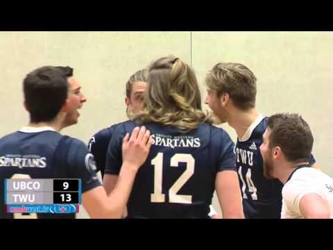 2016-02-05 TWU Men's Volleyball Highlights vs UBC Okanagan